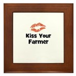 Kiss Your Farmer Framed Tile