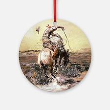 cowboy art Ornament (Round)