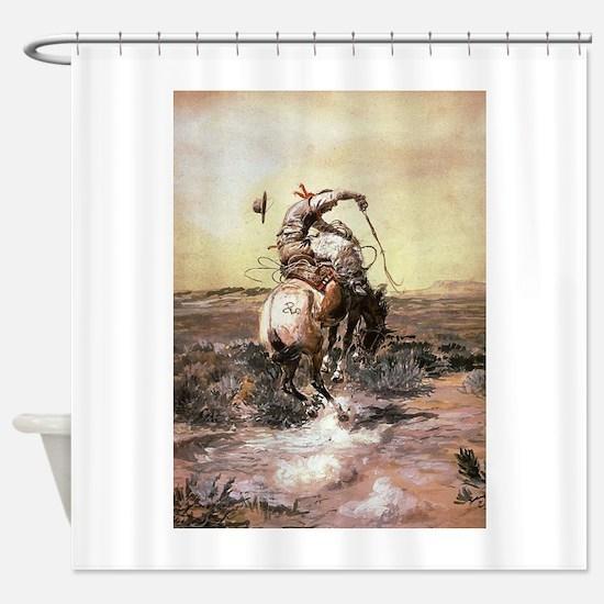 cowboy art Shower Curtain