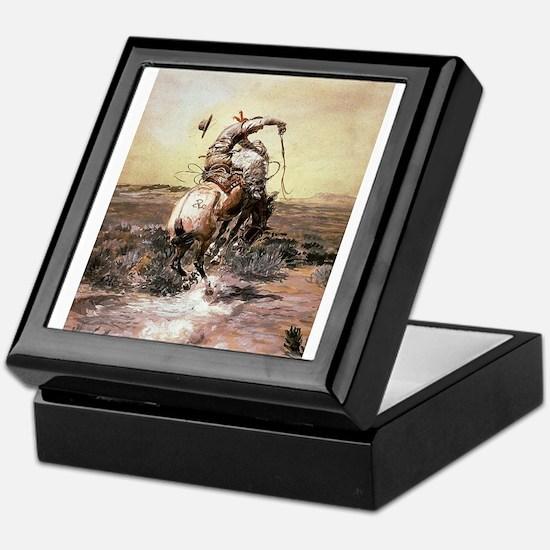 cowboy art Keepsake Box