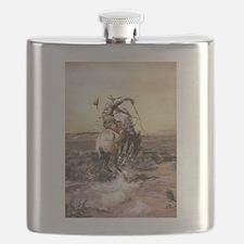 cowboy art Flask
