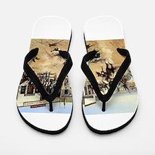cowboy art Flip Flops