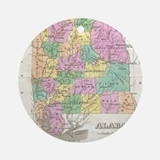 Vintage Map of Alabama (1827) Round Ornament