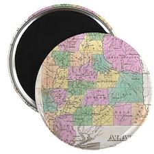 Vintage Map of Alabama (1827) Magnet