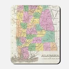 Vintage Map of Alabama (1827) Mousepad