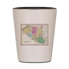 Vintage Map of Belgium (1827) Shot Glass