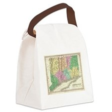 Vintage Map of Connecticut (1827) Canvas Lunch Bag