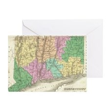 Vintage Map of Connecticut (1827) Greeting Card
