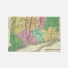 Vintage Map of Connecticut (1827) Rectangle Magnet