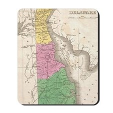 Vintage Map of Delaware (1827) Mousepad