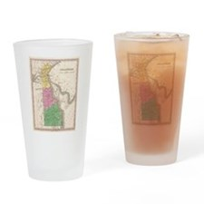 Vintage Map of Delaware (1827) Drinking Glass