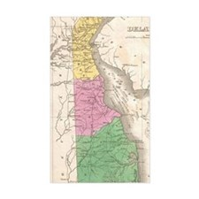 Vintage Map of Delaware (1827) Decal