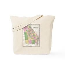 Vintage Map of Georgia (1827) Tote Bag