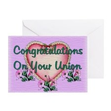Civil Union Congratulations Greeting Card