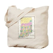 Vintage Map of Indiana (1827) Tote Bag