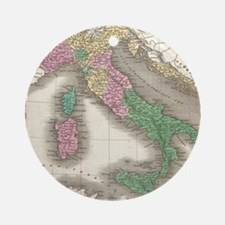 Vintage Map of Italy (1827) Round Ornament