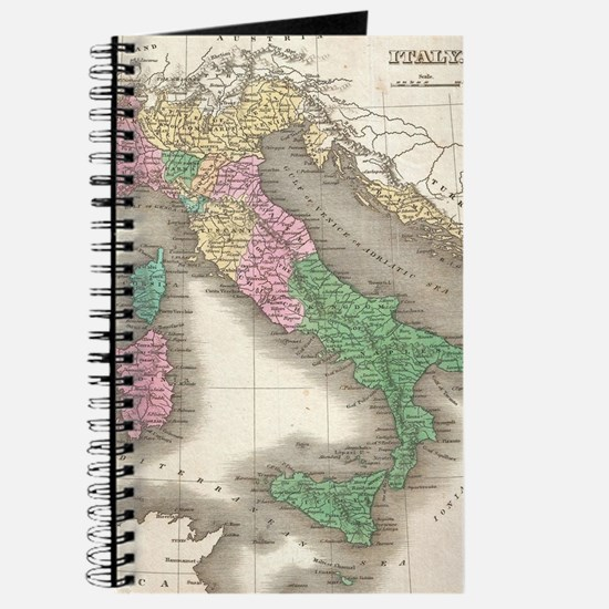 Vintage Map of Italy (1827) Journal