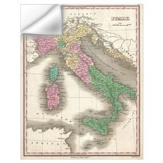 Vintage Map of Italy (1827) Wall Decal