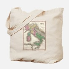 Vintage Map of Italy (1827) Tote Bag