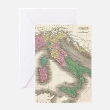 Vintage Map of Italy (1827) Greeting Card