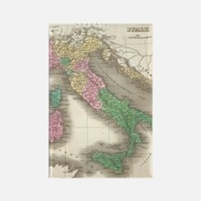 Vintage Map of Italy (1827) Rectangle Magnet