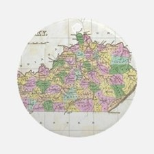 Vintage Map of Kentucky (1827) Round Ornament