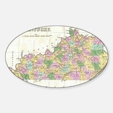 Vintage Map of Kentucky (1827) Decal