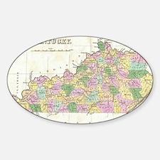 Vintage Map of Kentucky (1827) Sticker (Oval)