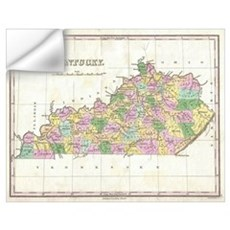 Vintage Map of Kentucky (1827) Wall Decal