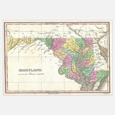 Vintage Map of Maryland (1827)