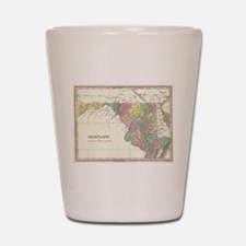 Vintage Map of Maryland (1827) Shot Glass