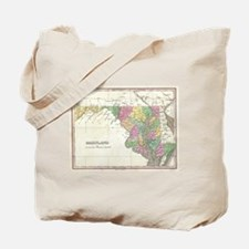 Vintage Map of Maryland (1827) Tote Bag