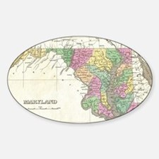 Vintage Map of Maryland (1827) Decal