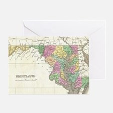 Vintage Map of Maryland (1827) Greeting Card