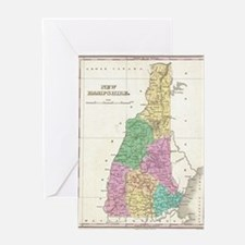 Vintage Map of New Hampshire (1827) Greeting Card