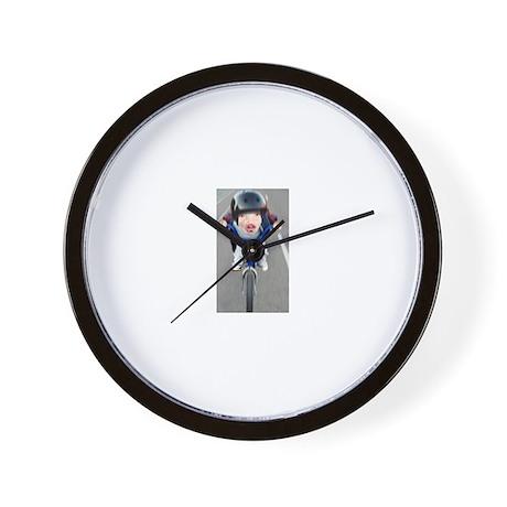 Pig Biker Wall Clock