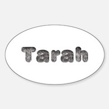 Tarah Wolf Oval Decal