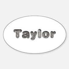 Taylor Wolf Oval Decal