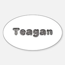 Teagan Wolf Oval Decal