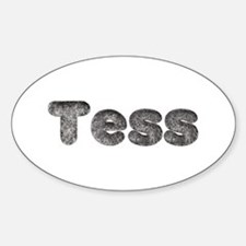 Tess Wolf Oval Decal