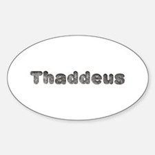 Thaddeus Wolf Oval Decal