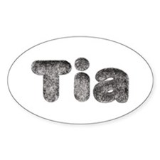 Tia Wolf Oval Decal