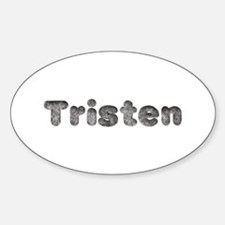 Tristen Wolf Oval Decal