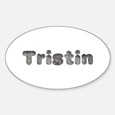 Tristin Wolf Oval Decal