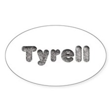 Tyrell Wolf Oval Decal