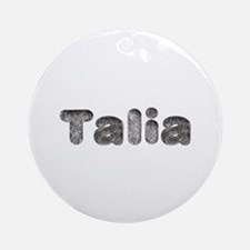 Talia Wolf Round Ornament