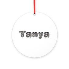 Tanya Wolf Round Ornament