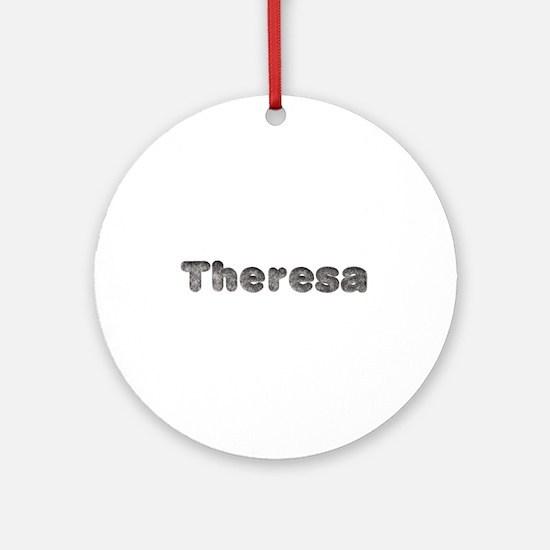 Theresa Wolf Round Ornament