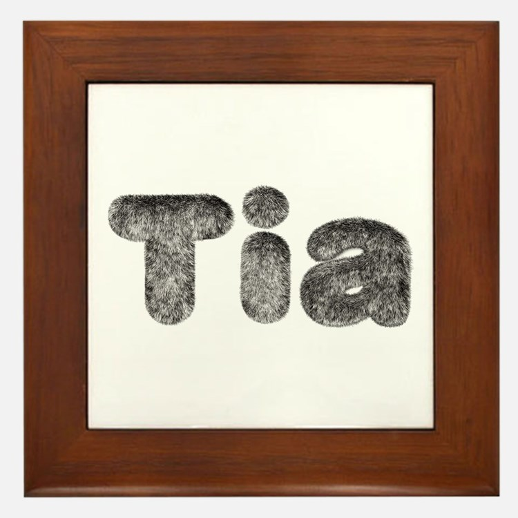 Tia Wolf Framed Tile