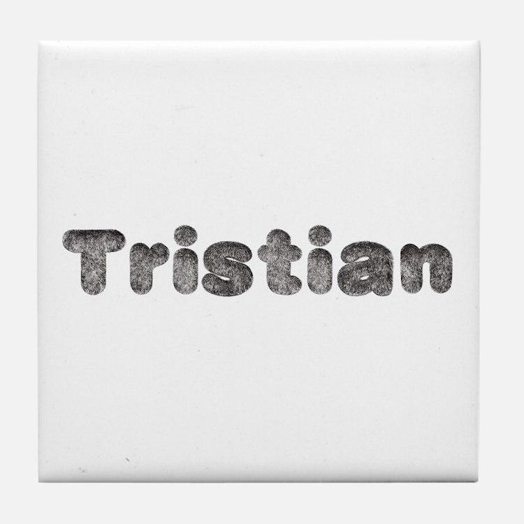 Tristian Wolf Tile Coaster